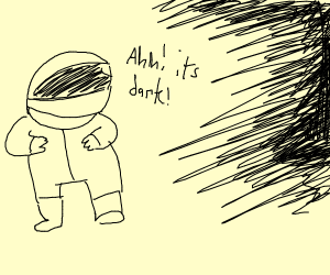 spaceman scared of the dark