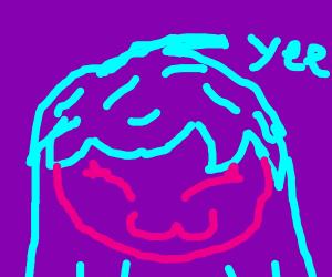 gorl is happy