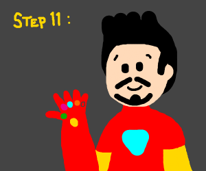 Step 10: become thanos and kill 1/2 earth