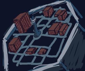 A City inside a Hexagon.