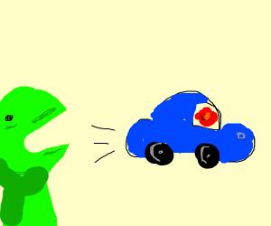 Elmo stole Kermits car!!!