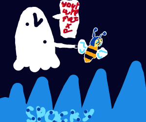 Ghost calling a crying bee fat