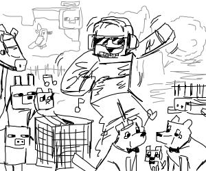 weird minecraft player wiggling