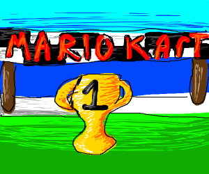 First in Mario Kart