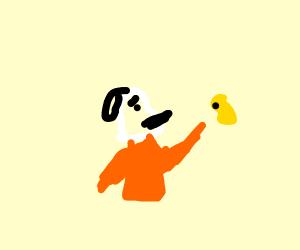 Prisoner Snoopy hitting the yellow bird