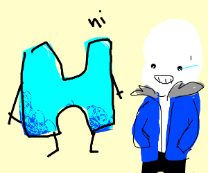 Drawsome Logo As An H Says Hello To Skeleton