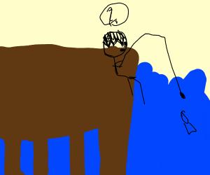 Fishing while thinking