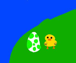 Duck With Yoshi Egg