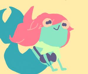 Frog muppet Ariel