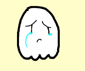 A cute, but sad ghost :(