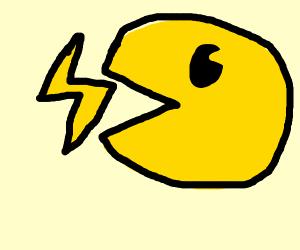 pac man swallows lightning