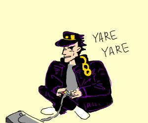 Jotaro Kujo is having a gamer moment