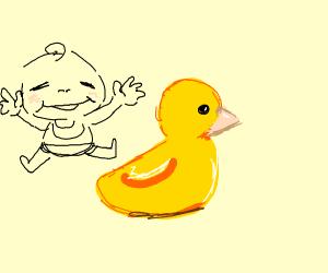 A rubber ducky