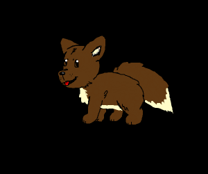 Adorable brown dog, resembles eevee