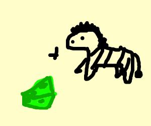 green cheese zebra