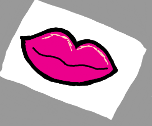 sticker pink lips
