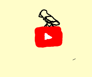 Bird on a youtube play button