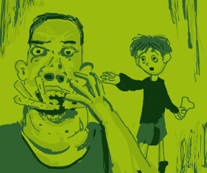 Guy got his fries eaten by his dad