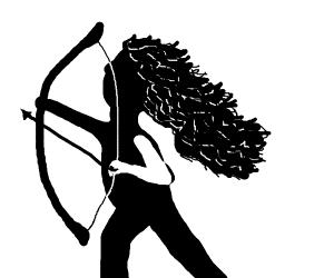 Archeress (B+W in profile)