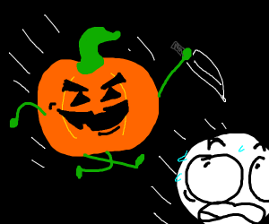 Pumpkins about to carve YOU!