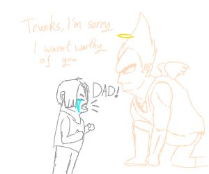 Ghost Vegeta regrets his actions