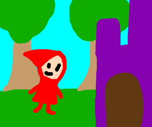 little red riding hood goin to a purplecastle