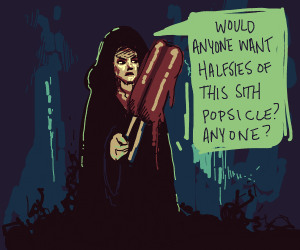 Anakin wants to share his lightsaber popsicle