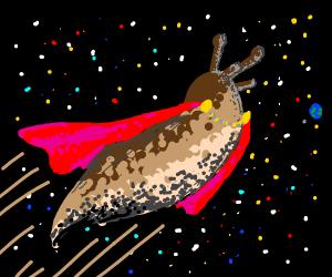 slug flying through space