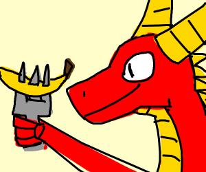 dragon eats food