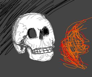 Skull breathing Fire