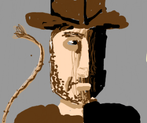 Indiana Jones holding whip