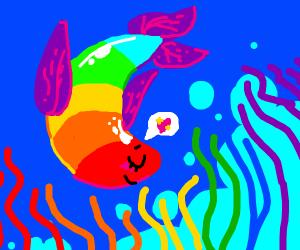 peaceful gay pride fish