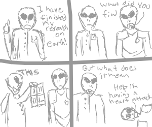 Alien sobs about loss