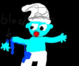 Oh no! Smurf's hand falls off.