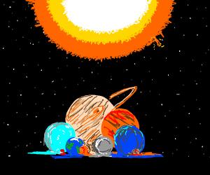 The solar system: an amalgamation!