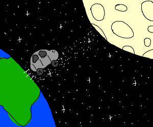 Car going to the moon