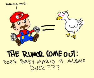 game theory, baby mario is an albino duck