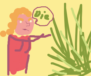 angry woman fights with nature