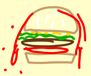 A burger with Blood
