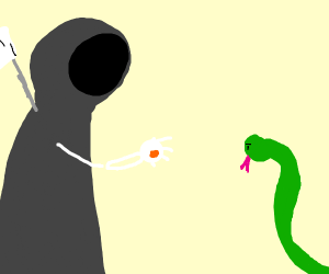 death offers a snake 1 cent for his soul