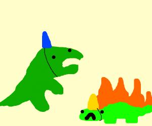 a dinosaur party