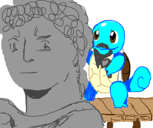 Michelangelo, but Squirtle