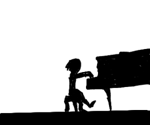 Silhouette of a Pianist