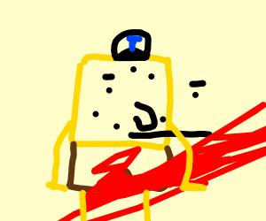 Spongebob's period is ketchup