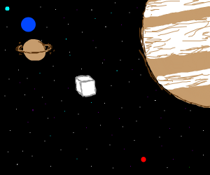 Cube in space