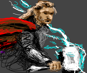 Thor and his electric hammer