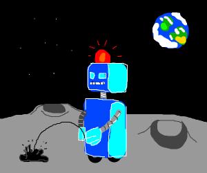Robotic peeing on the moon