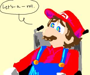 Mario in wheelchair