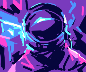 Astronaut in the central core