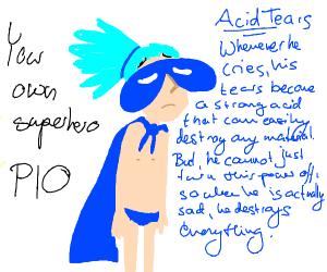 create your own superhero pio - Drawception